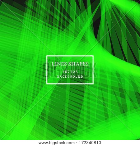 Modern technology striped abstract background vector. Green yellow stripes waves lines for presentation banner brochure poster website and flyer design. Contrast colors grid