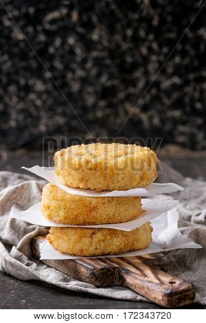 Cheese And Onion Cutlets For Making Vegan Burger