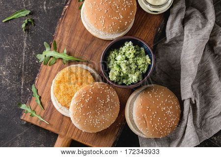 Ingredients For Making Vegan Burger