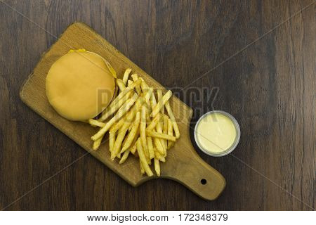 cheeseburger fries sauce junk food fast food cheese meat bad food not healthy