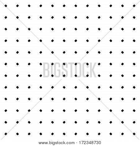 Vector seamless texture. Simple minimalist monochrome pattern. Modern stylish texture with rounded geometric figures. Black & white illustration of perforated surface. Design for prints, decoration, textile, fabric, furniture, stationery, digital, web