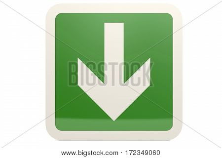 Green Down Arrow Sign