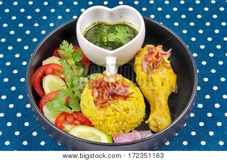 Muslim Yellow Jasmine Rice With Chicken,halal Food