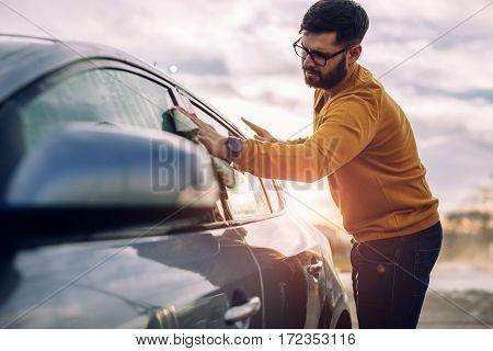 Giving The Car A Good Scrub!