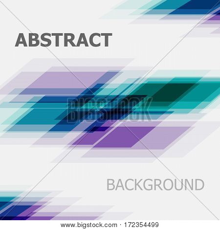 Abstract green and purple business straight line background, stock vector
