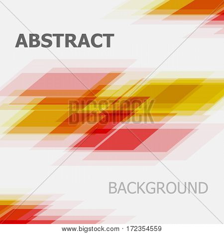 Abstract red and yellow business straight line background, stock vector