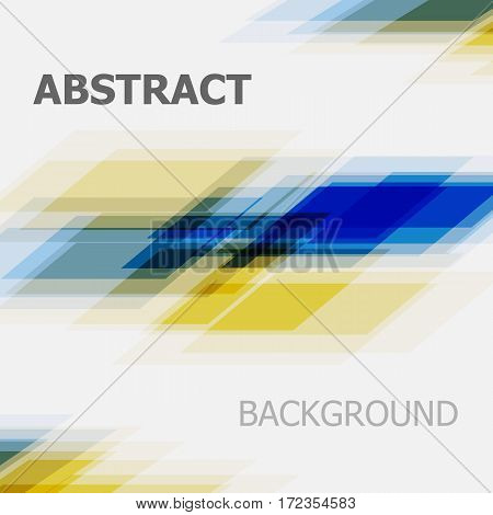 Abstract blue and yellow business straight line background, stock vector