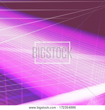 Modern technology striped abstract background vector. Pastel pink stripes waves lines for presentation banner brochure poster website and flyer design. Contrast colors grid