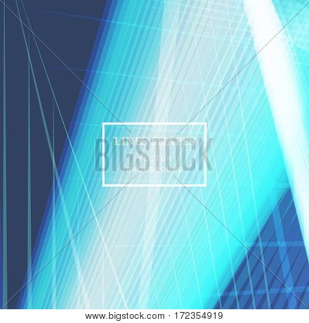 Modern technology striped abstract background vector. Blue pastel stripes waves lines for presentation banner brochure poster website and flyer design. Contrast colors grid