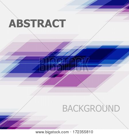 Abstract blue and purple business straight line background, stock vector