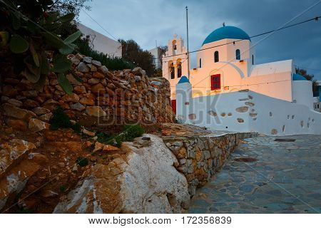 Church in Stavros village on Donoussa island in Lesser Cyclades.