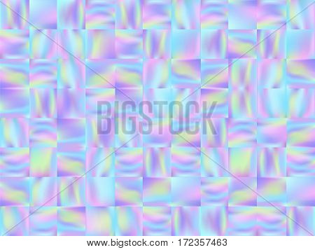 Holographic Mosaic Background Pastel Smooth Wallpaper 2