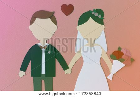 Valentine's Day Couple Groom and Bride Mockup