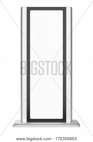 Black lightbox in white background. 3d rendering