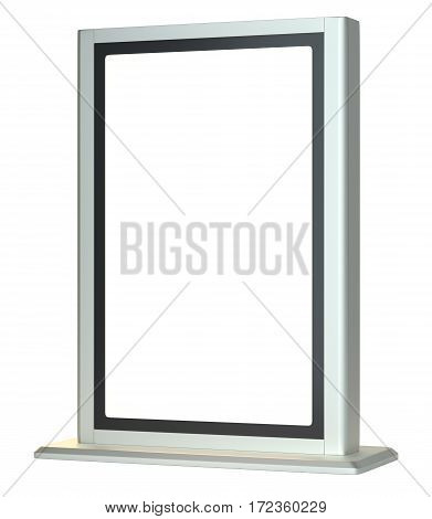 Lightboxe. Isolated On white Background. 3D rendering. Template for your Design