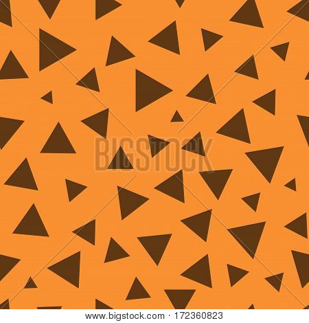 Triangle chaotic seamless pattern. Fashion graphic background design. Modern stylish abstract color texture. Template for prints textiles wrapping wallpaper website etc. Stock VECTOR illustration