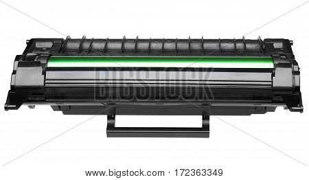 Laser cartridge isolated on white background. Front view