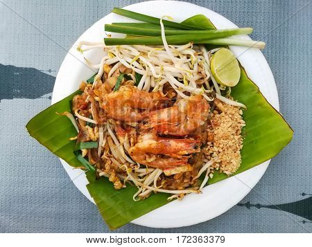 Chicken and Shrimp Pad thai , Thai style noodles