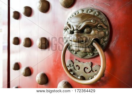 Lion head door knocker Chinese style knocker in Singapore