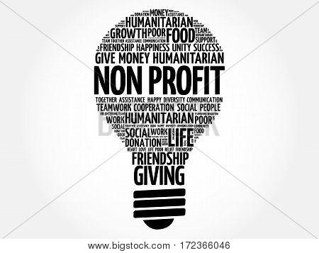 Non Profit Bulb Word Cloud