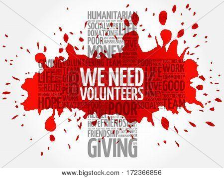 We Need Volunteers Word Cloud Collage