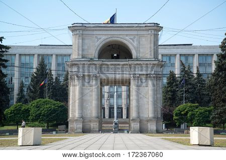Chisinau, Moldova, circa august 2016: The Metropolitan Cathedral Nativity of the Lord, Catedrala Nasterea Domnului in Chisinau, Moldova
