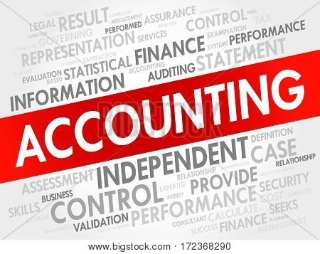 ACCOUNTING word cloud collage, business concept background