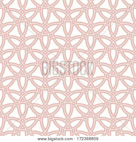 Seamless vector pink ornament in arabian style. Geometric abstract background. Pattern for wallpapers and backgrounds