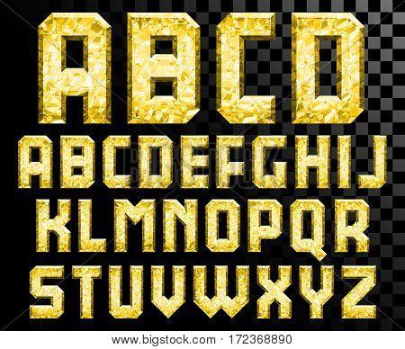 Shiny diamond alphabet letters set uppercase - eps10