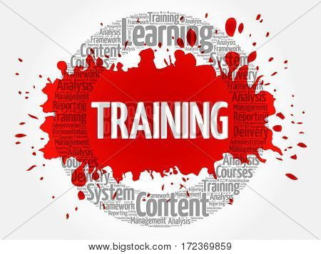 TRAINING word cloud collage, business concept background