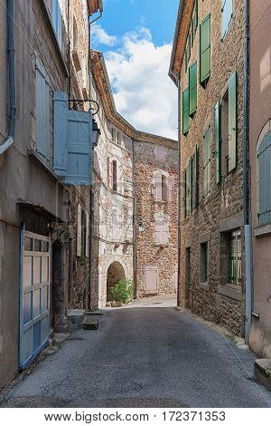 impression of the town Largentiere in the Ardeche region of France
