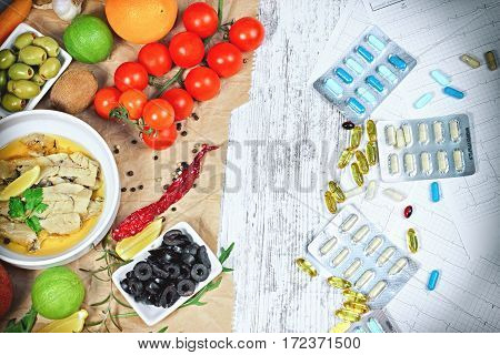 Concept of healthy eating (diet) and healthy lifestyle to you