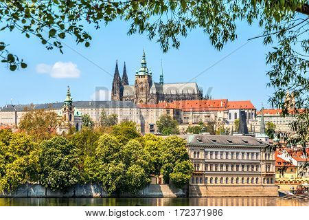 Cityscape Of Prague With Saint Vitus Cathedral, Czech Republic