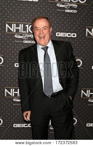 LOS ANGELES - JAN 27:  Al Michaels at The NHL100 Gala at Microsoft Theater on January 27, 2017 in Los Angeles, CA