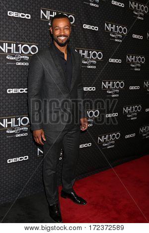 LOS ANGELES - JAN 27:  Isaiah Mustafa at The NHL100 Gala at Microsoft Theater on January 27, 2017 in Los Angeles, CA