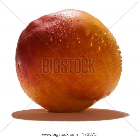 Peach With Dew