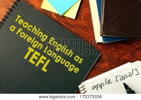 Book with title Teaching English as a Foreign Language (TEFL).
