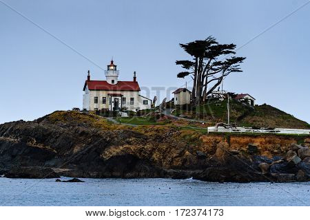 Battery Point Lighthouse in Crescent City, California
