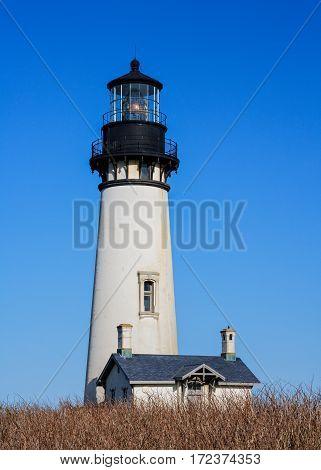 Yaquina Head Lighthouse on the Oregon Coast