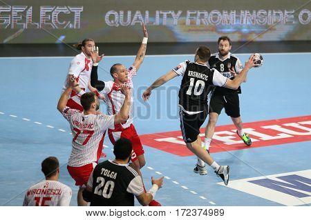 Besiktas Mogaz Ht And Dinamo Bucuresti Handball Match