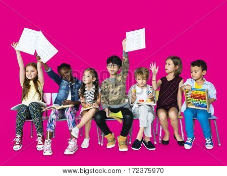 Group of students educated child development