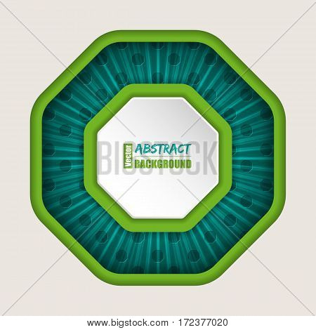 Abstract octagon brochure background with bursting effect