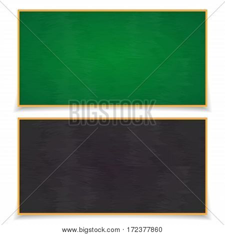 Blackboard set with shadows isolated on white background. School board. Vector Illustration