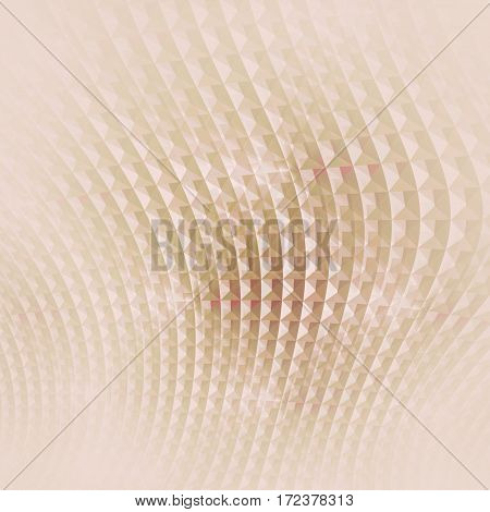 Abstract geometric background vertically. Regular curved waffle-weave pattern in pink, beige and light brown shades shimmering and blurred.