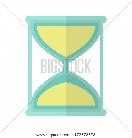 Hourglass icon in flat. Simple and elegant hourglass vector. Beautiful hourglass in flat style. Office workplace design element. Isolated object on white background. Vector illustration.
