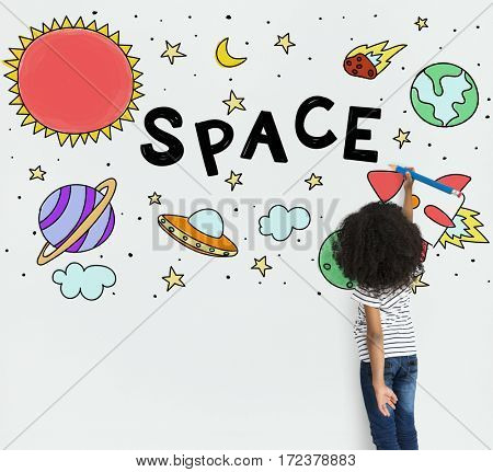 Kids Fun Camp Education Space Icons