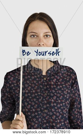 Yourself overlay word young people