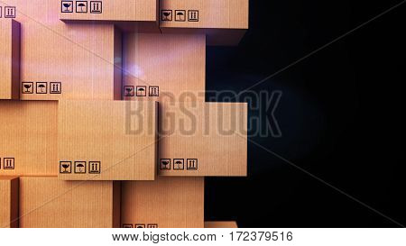 Cardboard Boxes With Copyspace