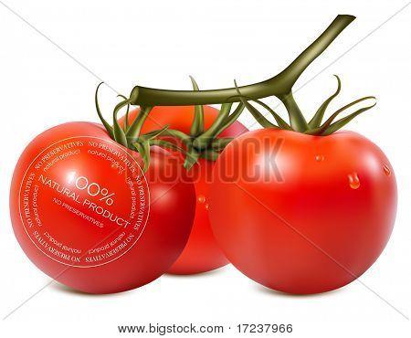 Vector illustration. Tomato. No preservatives.