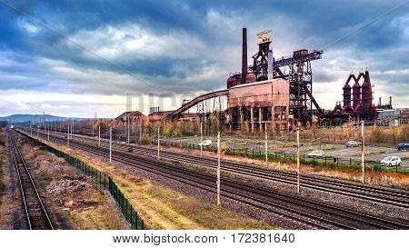 Old industry park. Old industry: Structural change in a former high-rise of the coal and steel industry!